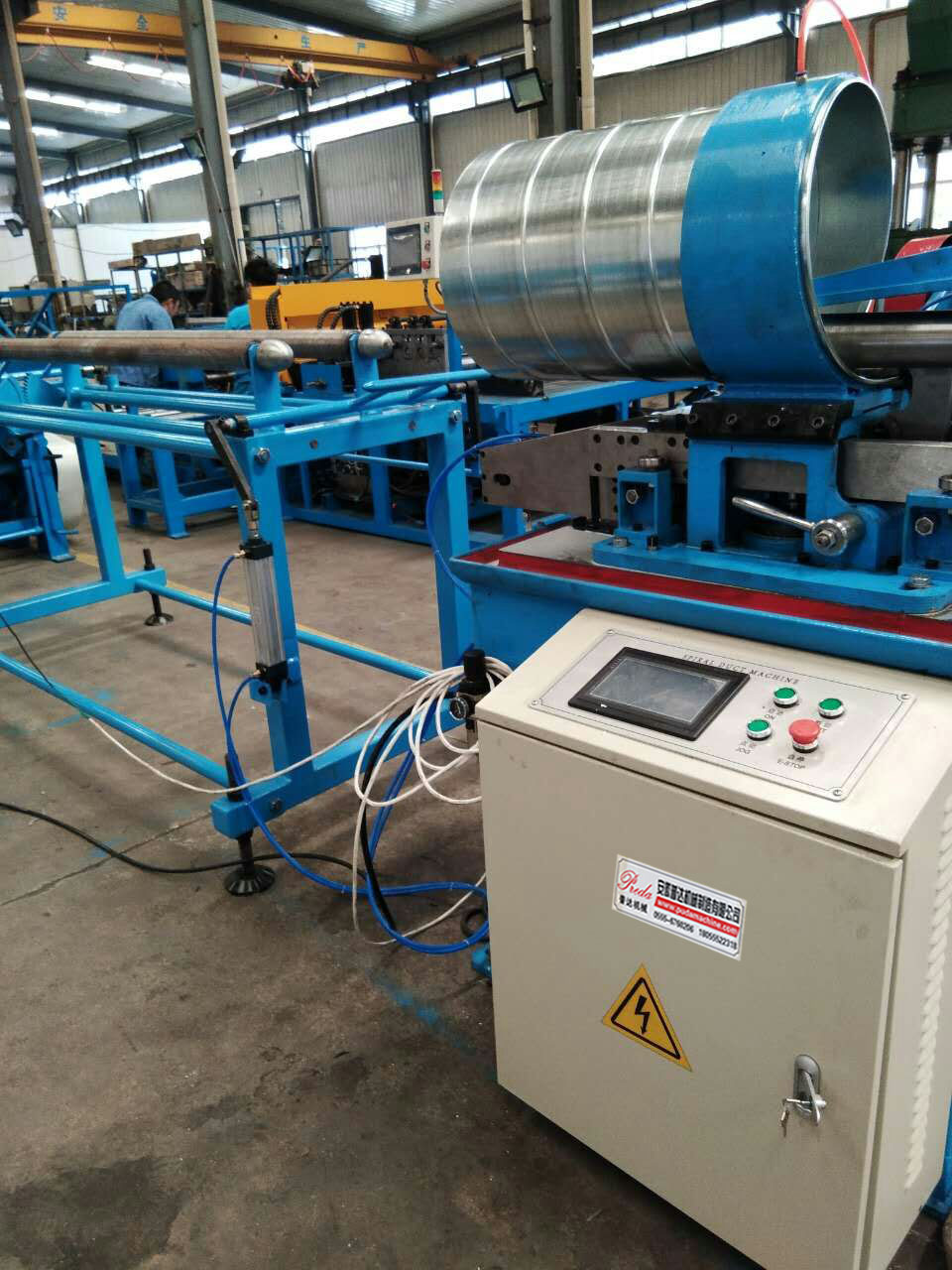 Spiral Tubeformer Mould Type Auto Duct Line Duct