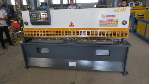 Nc Hydraulic Guillotine Shearing Machine Auto Duct Line